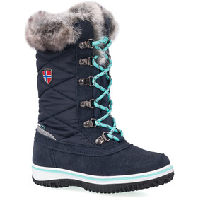TROLLKIDS Holmenkollen Snow Boots Girls, navy/mint